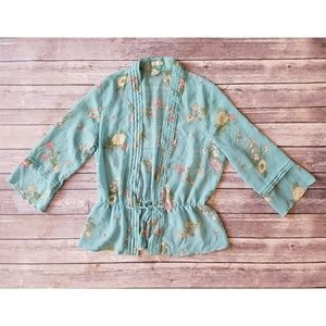 Old Navy Kimono Blouse with floral detail